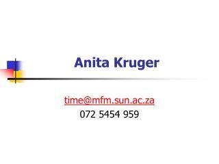 Anita Kruger