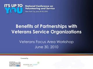 Benefits of Partnerships with Veterans Service Organizations