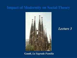 Impact of Modernity on Social Theory
