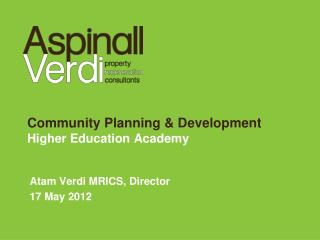 Community Planning & Development Higher Education Academy