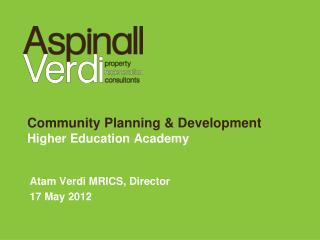 Community Planning & Development Higher Education Academy