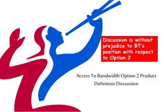 Access To Bandwidth Option 2 Product Definition Discussion
