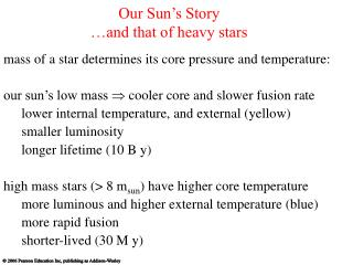 Our Sun's Story …and that of heavy stars