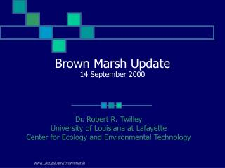 Brown Marsh Update 14 September 2000