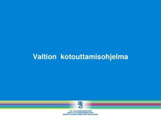 Valtion  kotouttamisohjelma