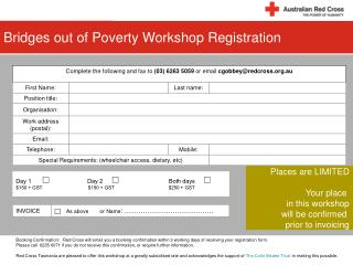 Bridges out of Poverty Workshop Registration