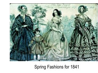 Spring Fashions for 1841