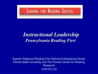 Instructional Leadership Pennsylvania Reading First