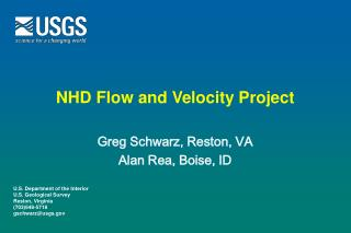 NHD Flow and Velocity Project