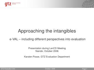 Approaching the intangibles  e-VAL   including different perspectives into evaluation