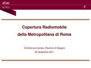 Copertura Radiomobile  della Metropolitana di Roma