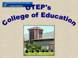 UTEP's  College of Education