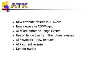New attribute classes in ATKCore New viewers in ATKWidget ATKCore ported to Tango Events