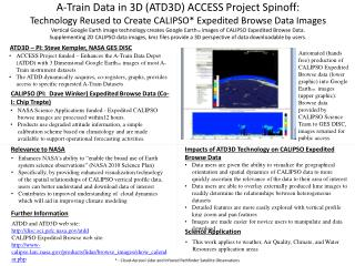 ATD3D – PI: Steve Kempler, NASA GES DISC