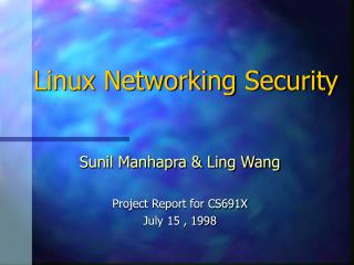 Linux Networking Security