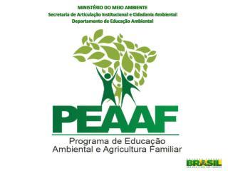 MINISTÉRIO DO MEIO AMBIENTE Secretaria de Articulação Institucional e Cidadania Ambiental