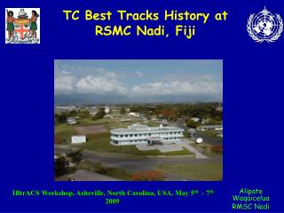 TC Best Tracks History at RSMC Nadi, Fiji