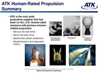 ATK Human-Rated Propulsion Summary