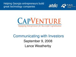 Communicating with Investors