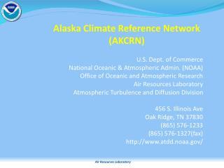 Alaska Climate Reference Network (AKCRN)