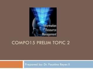 COMPO15 prelim topic 2