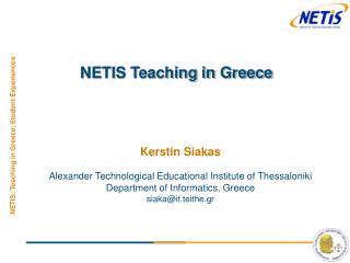 NETIS Teaching in Greece