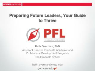 Preparing Future Leaders, Your Guide to Thrive