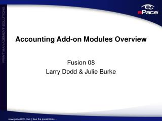 Accounting Add-on Modules Overview