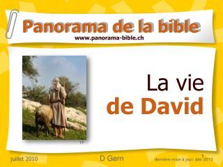La vie  de David