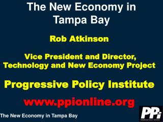 The New Economy in  Tampa Bay