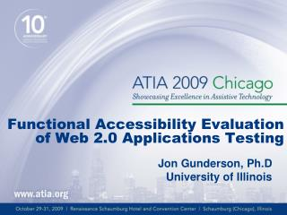 Functional Accessibility Evaluation of Web 2.0 Applications Testing