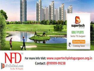 Lavish Life of Golf Course with Supertech Plots Gurgaon @ 99