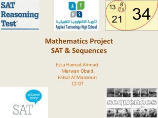 Mathematics Project SAT & Sequences