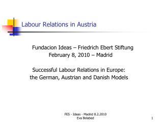 Labour Relations in Austria