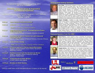 The Institute for Molecular Diversity & Drug Design (IMD 3 )  14th Annual Symposium