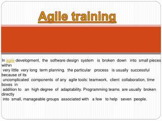 Agile training and agile fundamentals