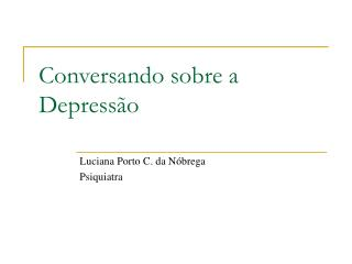 Conversando sobre a Depressão