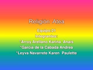Religión  Atea