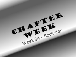 Chapter  Week