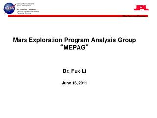 "Mars Exploration Program Analysis Group "" MEPAG """