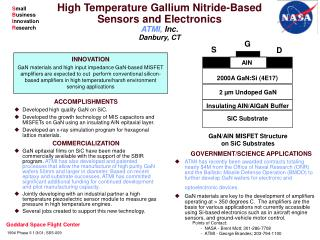 High Temperature Gallium Nitride-Based Sensors and Electronics ATMI,  Inc. Danbury, CT