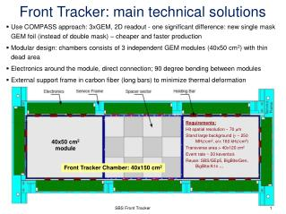 Front Tracker : m ain  t echnical solutions