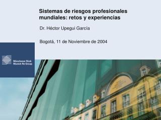 Sistemas de riesgos profesionales mundiales: retos y experiencias