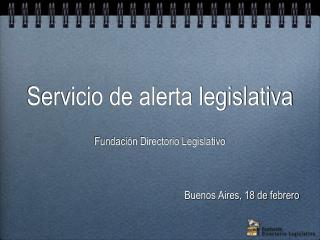 Servicio  de  alerta legislativa