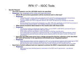 RFA 17 – ISOC Tools