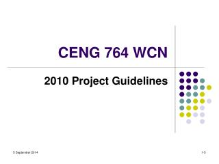 CENG 764 WCN