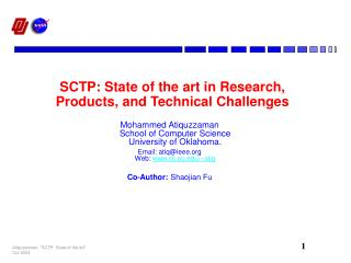 SCTP: State of the art in Research, Products, and Technical Challenges