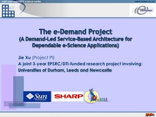 Jie Xu  (Project PI) A joint 3-year EPSRC/DTI-funded research project involving: