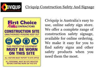 Safety Glasses & other Work Safety Gear from Civiquip