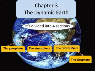 Chapter 3 The Dynamic  E arth